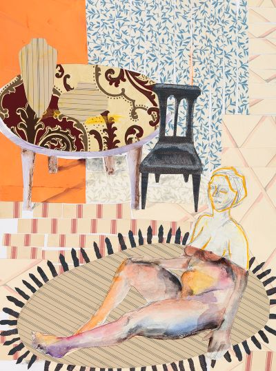 """The Living Room Series  Mixed Media on Paper  18"""" x 24""""  $875"""