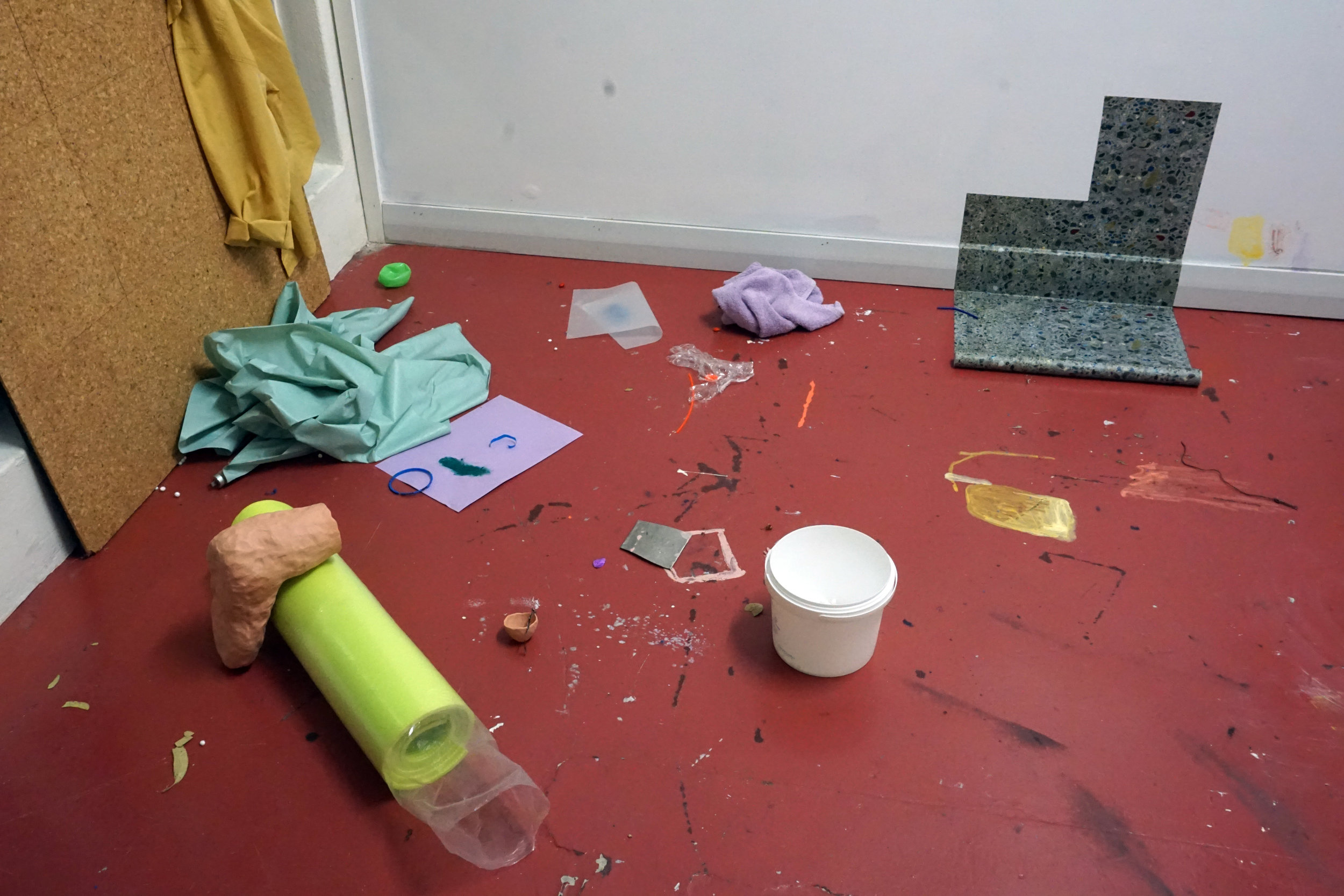 Holly Macdonald's open studio during her Travelling Artist Residency, 2018. Photo credit: the artist.