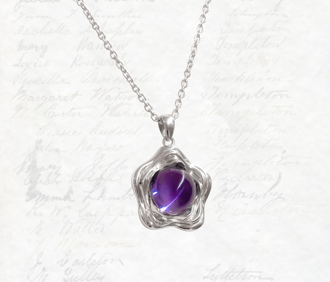 Suffrage 125 Sterling Silver, Amethyst Pendant