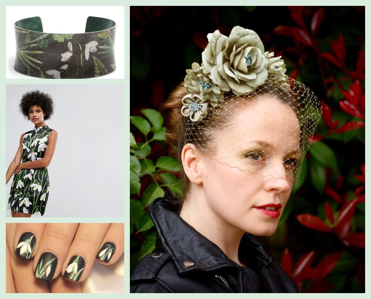Hat: Aka Tombo Millinery  Dress: asos.com  Bracelet:gillianarnold.com  Nails:nails-arts.com/spring.htm
