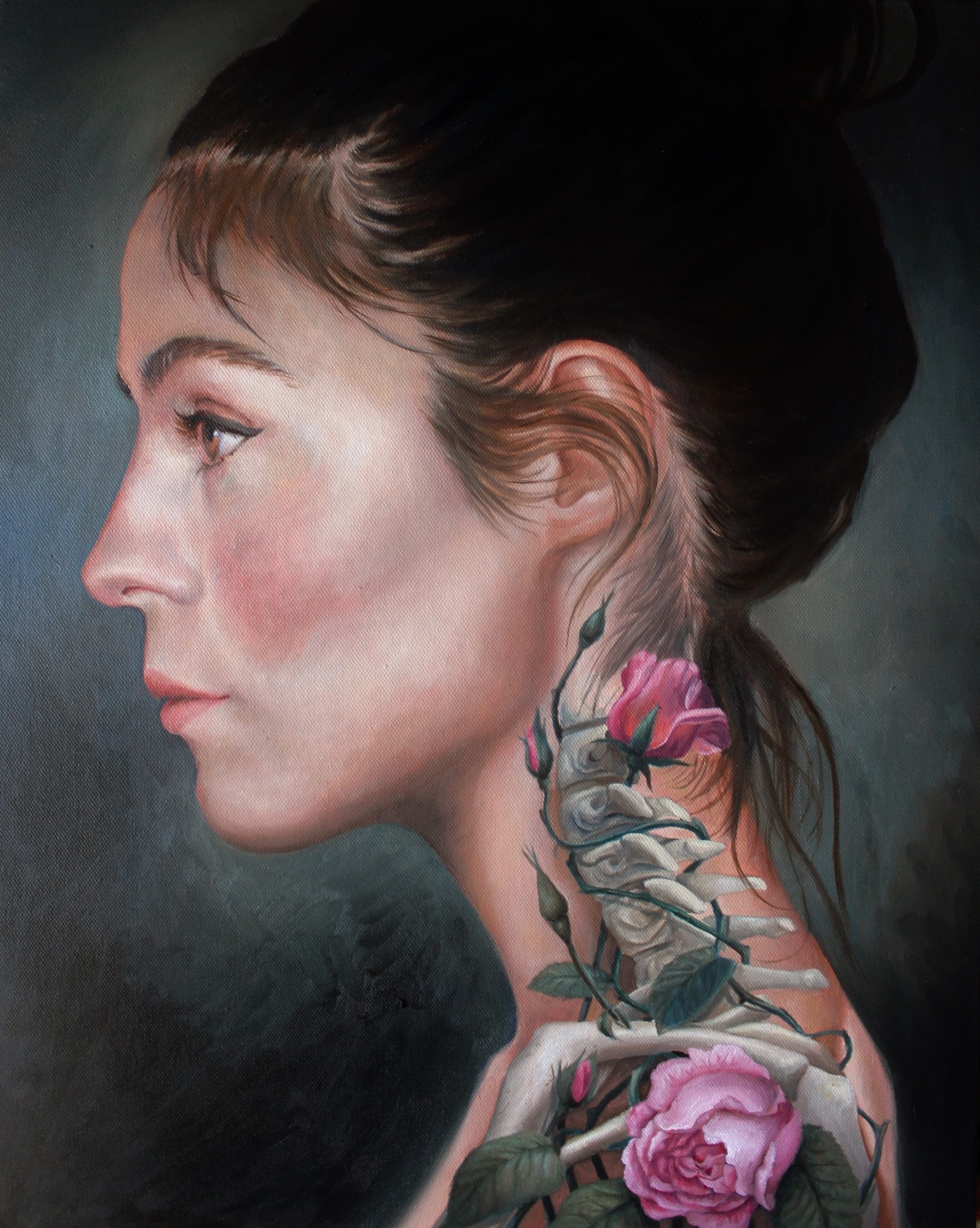 Surgery, 2018, oils on canvas, 60x50cm
