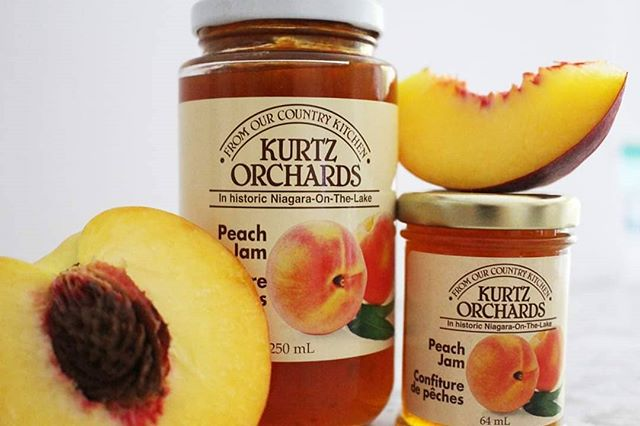 This just in!!! 🙌🍑 Straight from Niagara on the Lake to your kitchen! Kurtz peach fruit spread in two sizes! __ Hurry in and grab yours before we sell out! __ Available in stores: @promenadesc @shop_hillcrest @vaughan_mills @bvshops