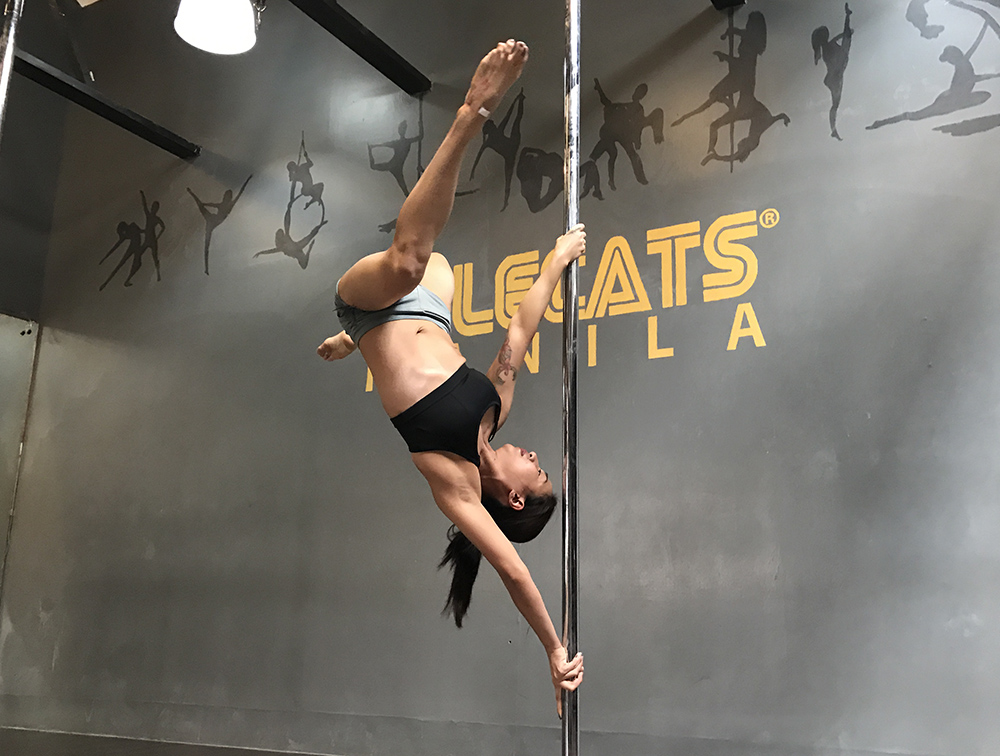 Pole Intermediate - Time to level up! You will learn different grips for spinning, and more difficult ways to mount the pole. Expect to learn more challenging inverts, flips, and combinations of tricks, all while developing your own style of moving around the pole.