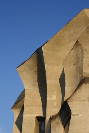 CONCRETE DETAIL OF SECOND GOETHEANUM, RUDOLF STEINER, DORNACH, SWITZERLAND 1924-1928. PHOTO: FIONA GRAY