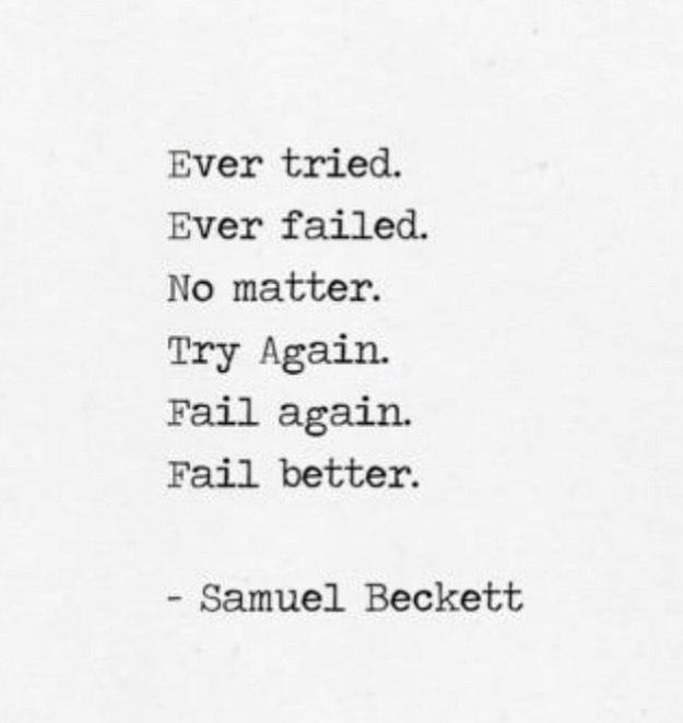 We're feeling you, Sam: . . . . . . . . #quotes #quotestoliveby #qotd #inspirationalquotes #inspiration #motivationalquotes #motivation #dailymotivation #positivequotes #positivevibes #yoga #mindfulness #mindful #zen #loa #isleena #lifestyleblog #yogablog #holistic #healing #youvegotthis #mindbodysoul #samuelbeckett