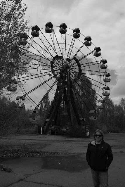 One of the haunting images of Chernobyl...the abandoned ferris wheel.