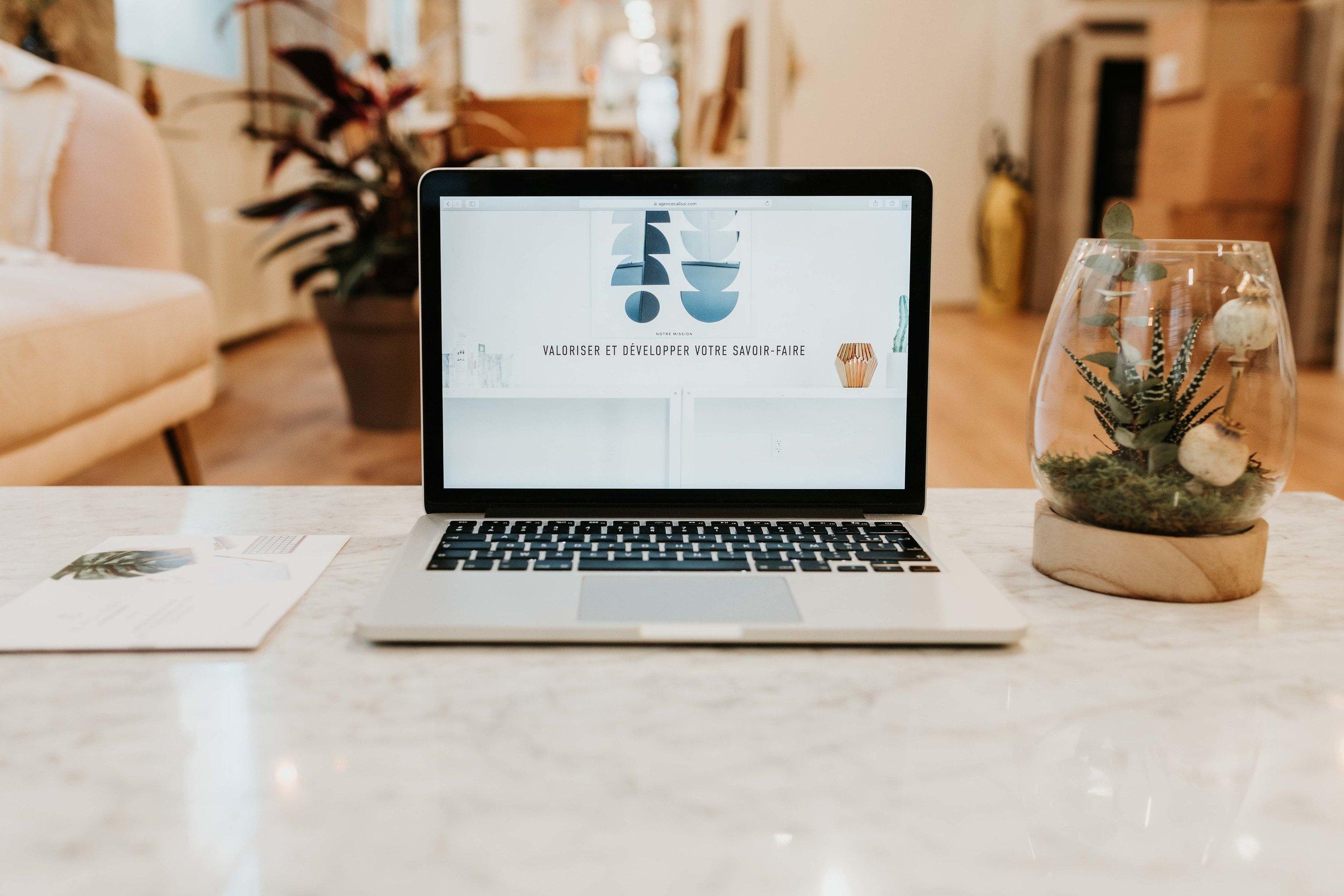 Création site Web - Cahier des charges sur les besoins et les objectifs du site internetConception du site internetAchat nom de domaine 1 an + abonnement 1 an à un CMSOptimisation du contenu pour un référencement naturel de qualitéMise en ligne et formation