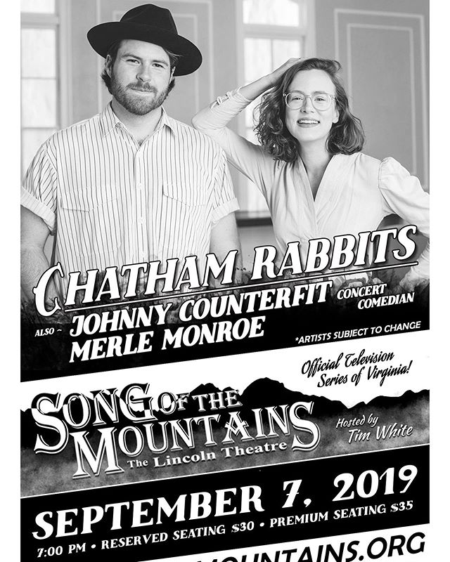 It's hard to believe that TONIGHT we will be headlining Song Of The Mountains in Marion, VA. Austin and I both grew up watching this series on @pbs and it's an enormous honor be on the other side of the camera 🎥 Tonight's performance will be taped and will air a few months. We will keep y'all updated so you can tune in with us! We will see some of you in person tonight, but for all of you out in insta-land we hope you'll be there in spirit and send us all the good thoughts you can muster 💕