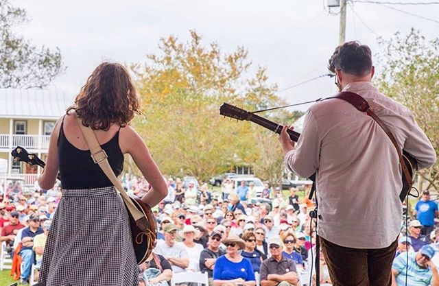 Reminiscing about our shows last weekend at Ol' Front Porch Festival in Oriental, NC. It was so awesome playing for such an attentive crowd 💕 Some days we take for granted that we get to play music for a living. Seriously though, I woke up this morning and had to pinch myself because I felt so blessed to do this job. We haven't ever met most of y'all out there in insta land, but even still you are helping make this dream possible. You help keep us motivated to make art and pour our hearts out every opportunity we get to be on stage. Thank you 🙏 We head out tomorrow for another full weekend of shows:  10/12 - Beericana Festival - Holly Springs, NC 10/13 - Lost Hollow Music Festival - Belmont, NC 10/14 - Carolina Theatre - Durham, NC (a benefit for victims of Hurricane Dorian of Ocracoke Island, NC)  Cheers to fall and not sweating our butts off anymore 🍂🌲🍁🌾🦗