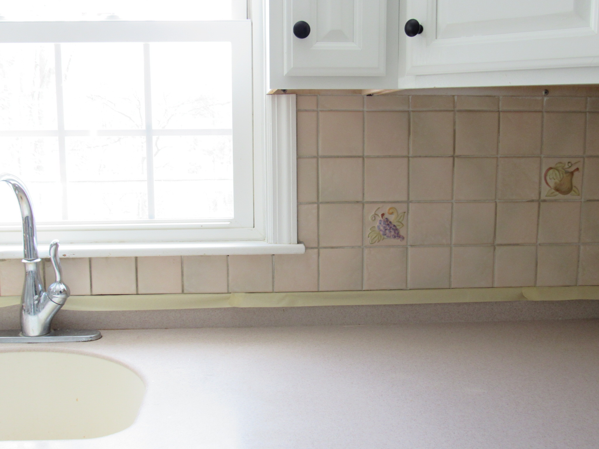 BEFORE // the tile was SO bad!!