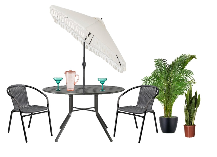 Chairs  |  Table  |  Umbrella