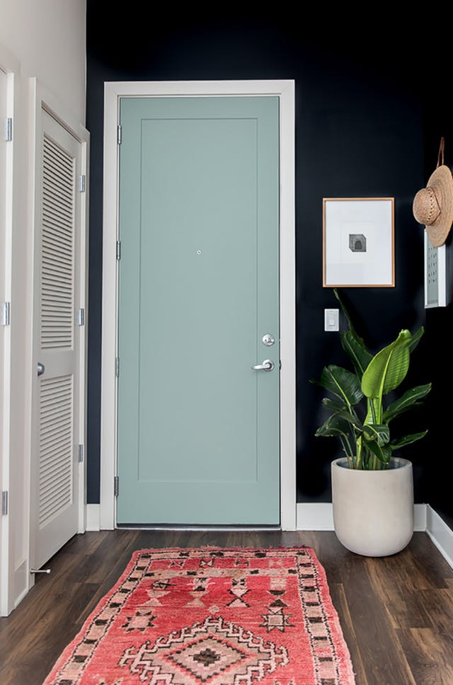 via  Apartment Therapy : For a  bolder look, aqua is a fun choice!