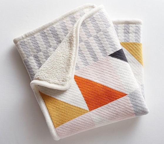 5. Modern Baby Blanket - LOVE this baby blanket from PB Kids/West Elm! It looks super soft for baby, but with a modern design that would look great draped over any sofa!