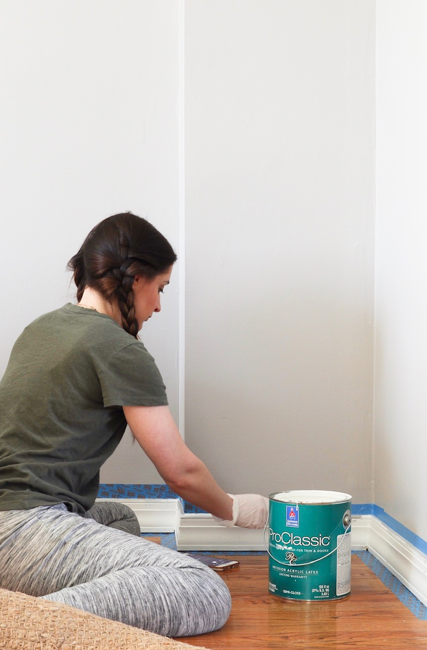 a fresh coat of paint on your baseboards can make a HUGE difference!