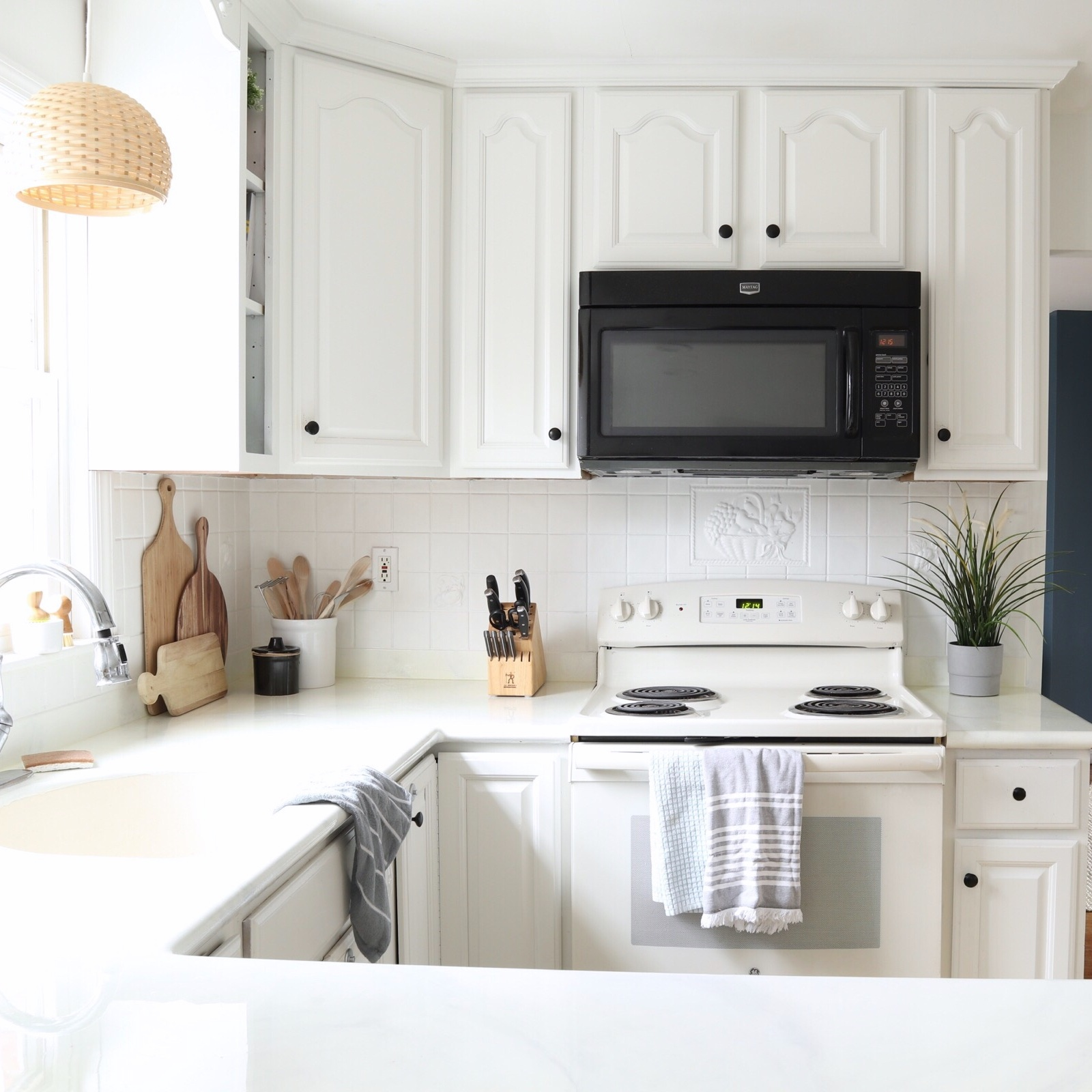 DIY Painted Backsplash -
