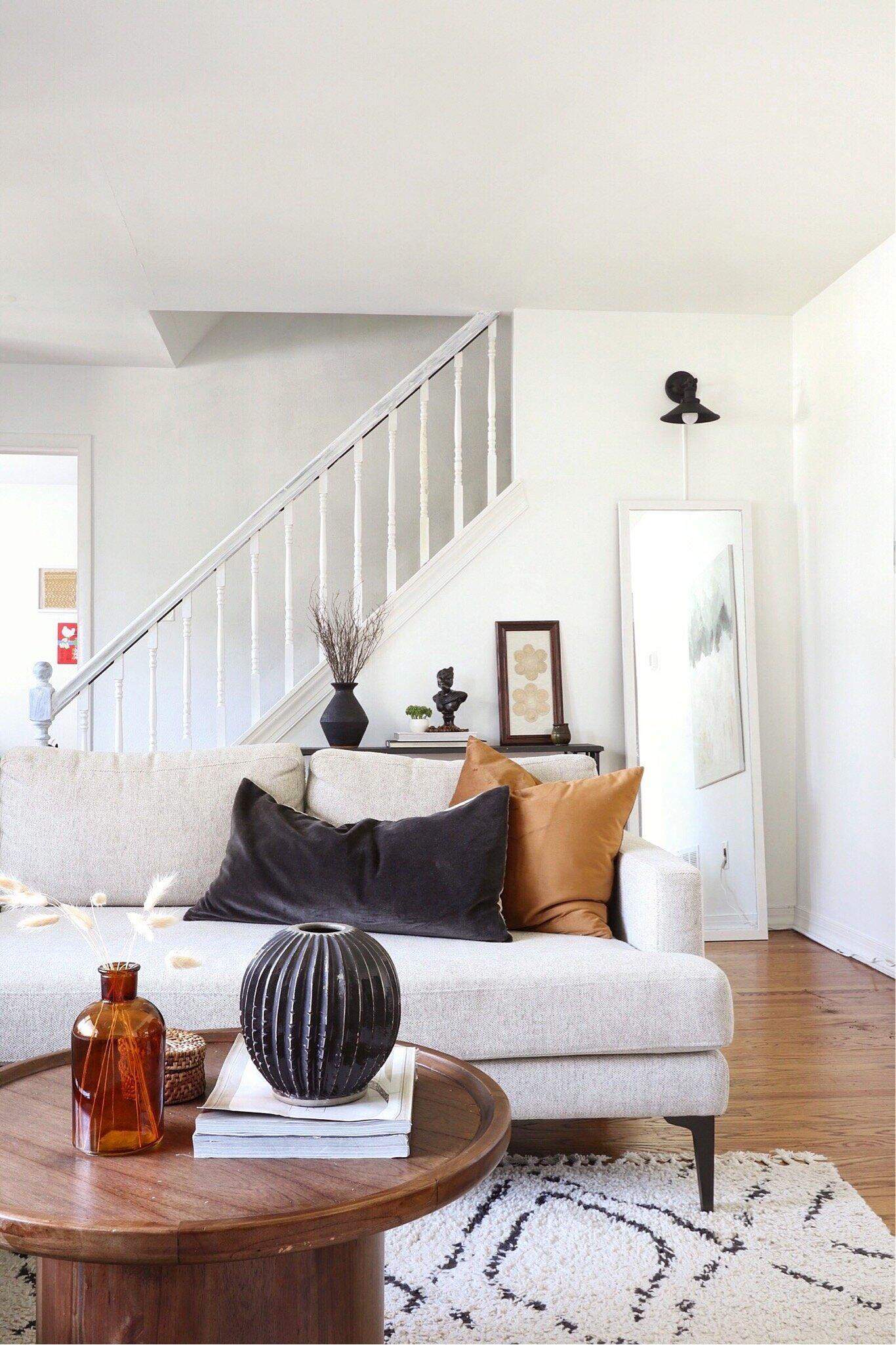 Coe Casa Living Room - My always evolving, modern-eclectic living room.