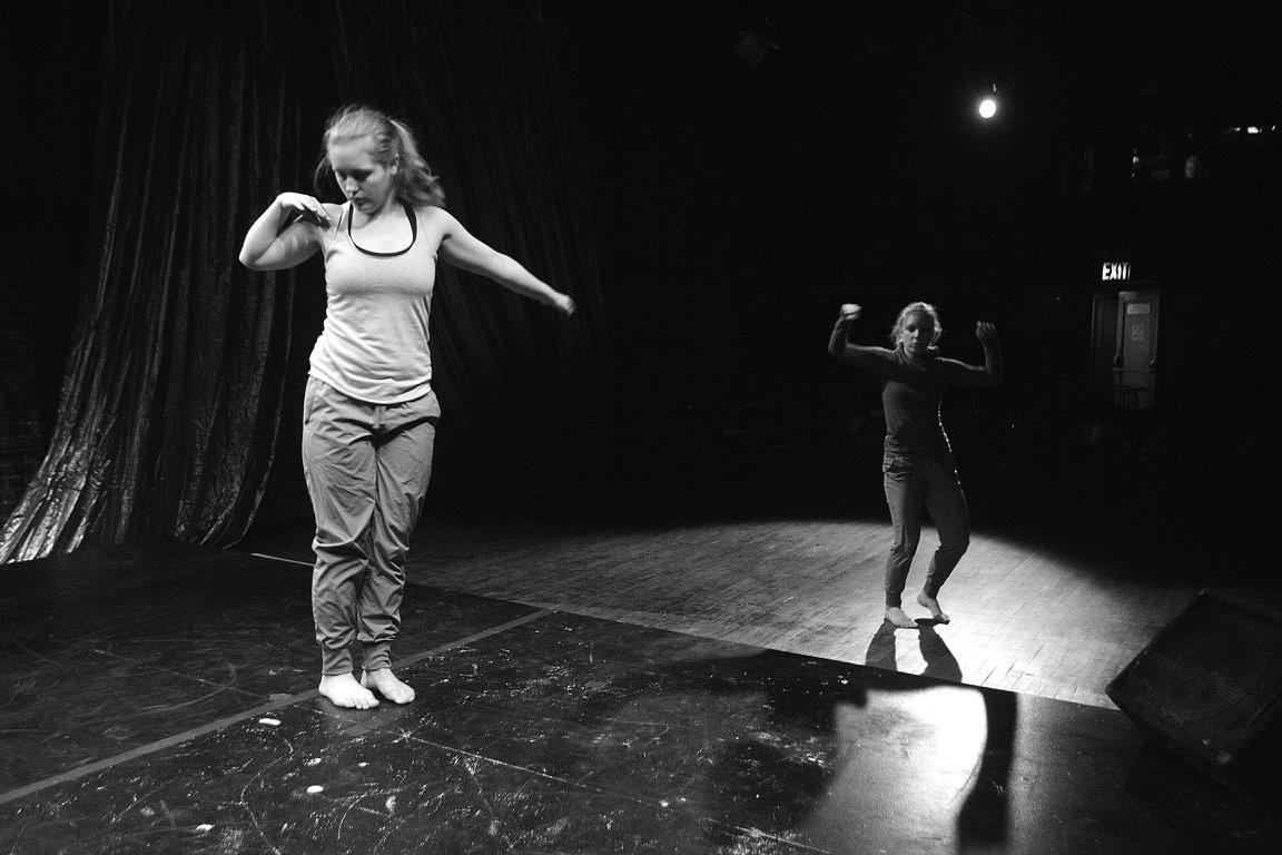 La MaMa Debut! - As part of the Trinity/La MaMa Performing Arts Semester, Emilie performed an improvisational duet with Kathryn Butler at La MaMa's Club.