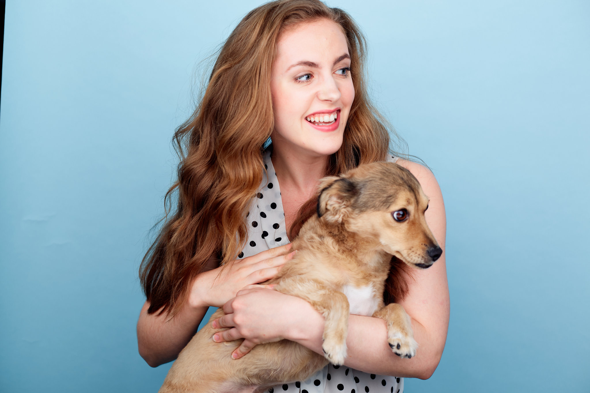 Emilie and pup
