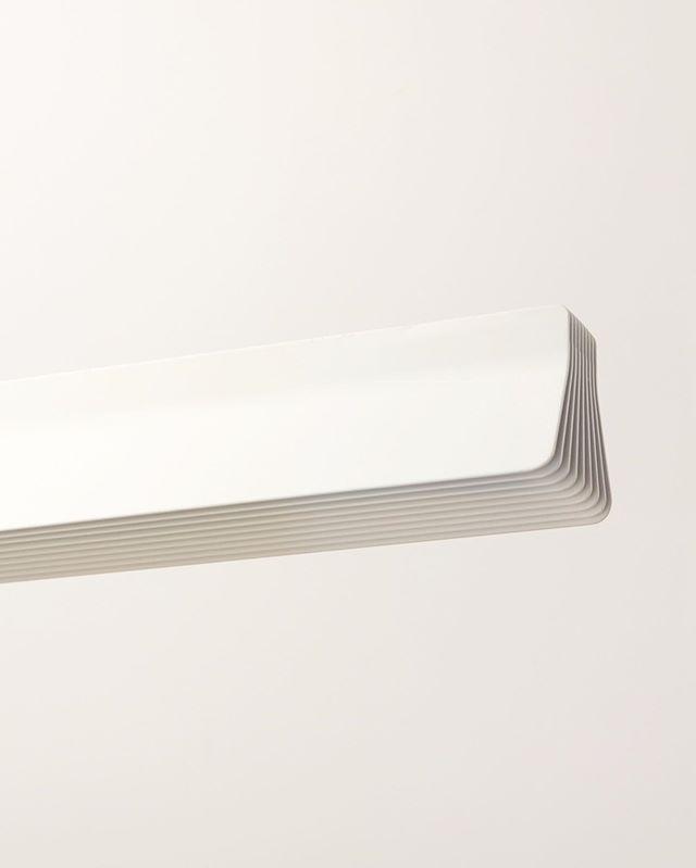 Powder coated extruded aluminium light. New linear light prototype. Made from a single piece of extruded aluminium.