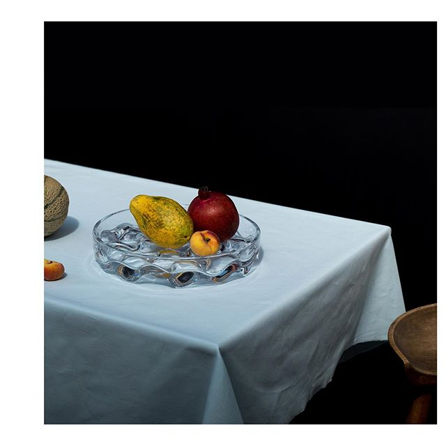 Blister Bowl in clear glass. #glassware #fruit
