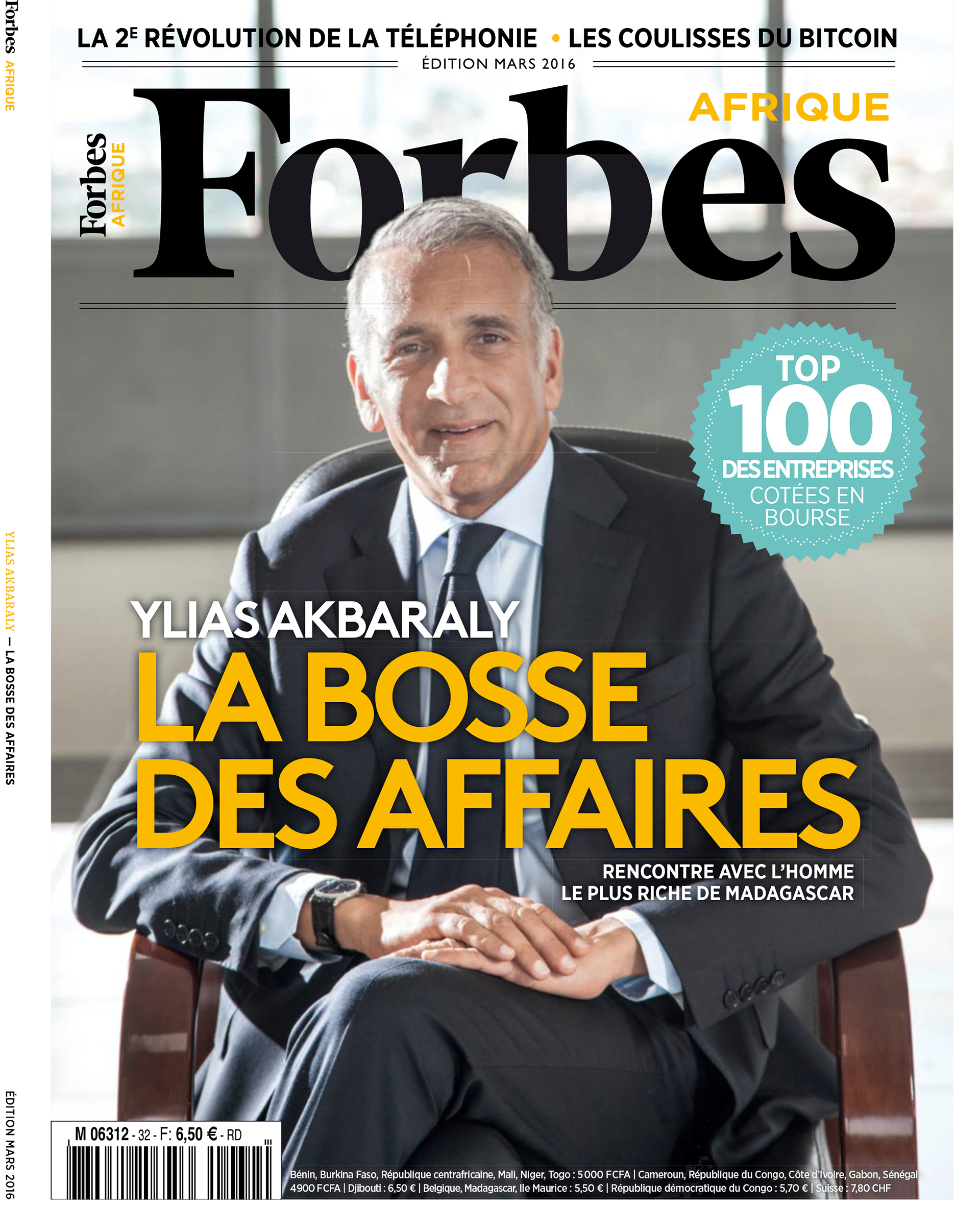 Exclusive interview of Mr Ylias Akbaraly -  Chairman of Sipromad Group  - published March 2016 Edition