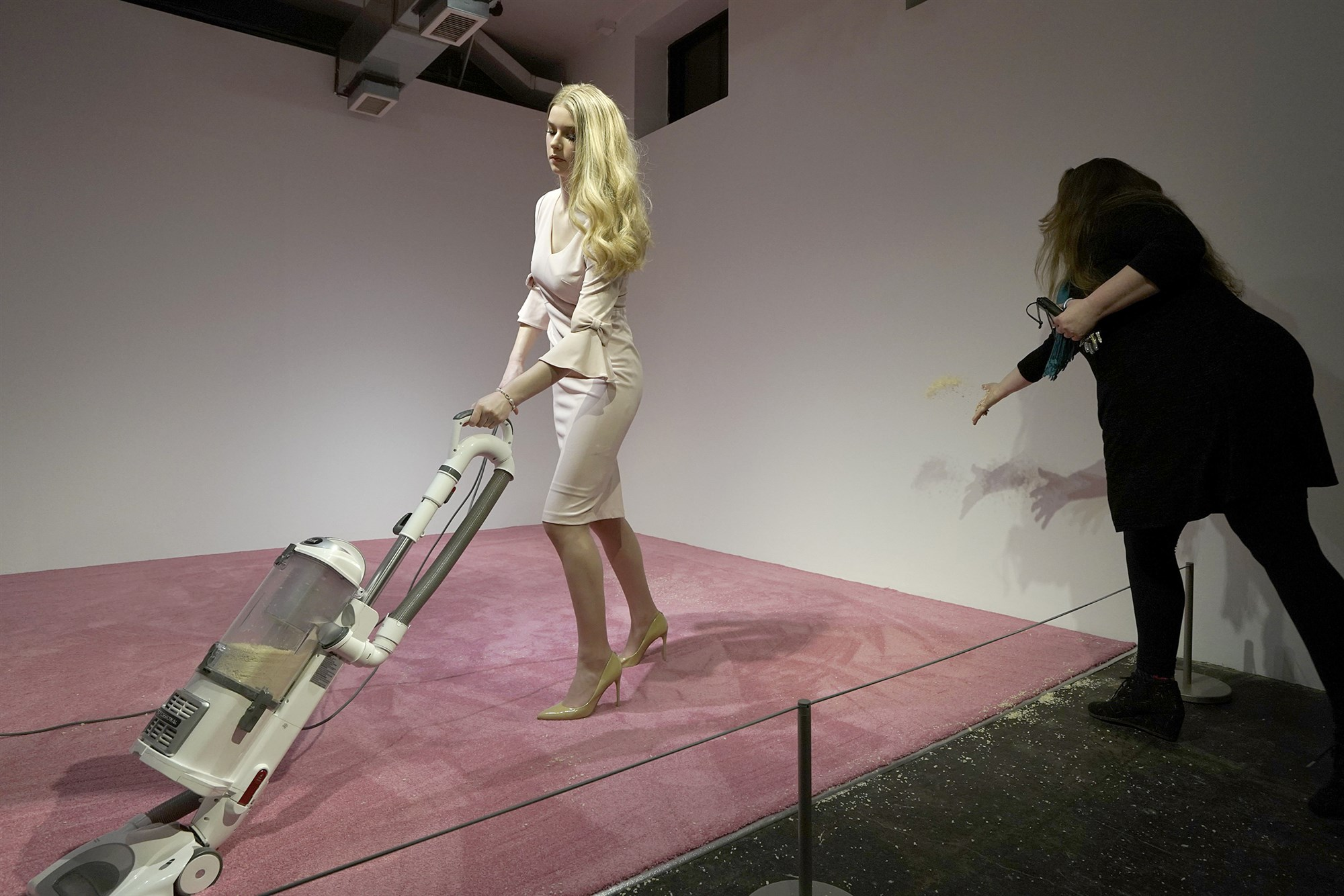 Ivanka Trump responds to D.C. art exhibit 'Ivanka Vacuuming' - NBC News, February 5, 2019