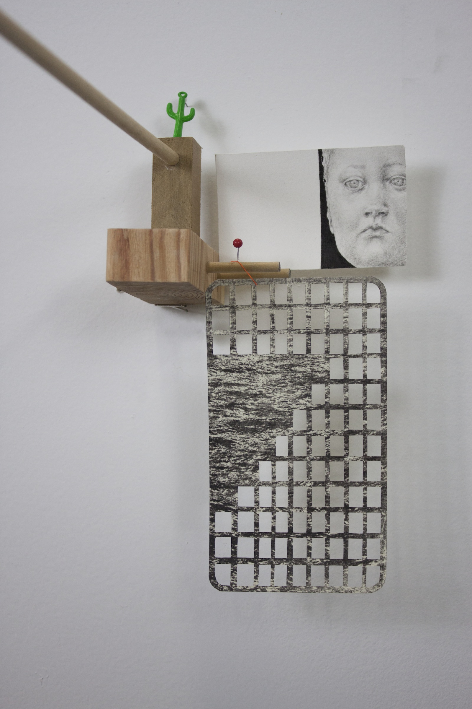 Horizon, detail, 2012, objects and drawings, 36 x 48 x 12 inches.jpg