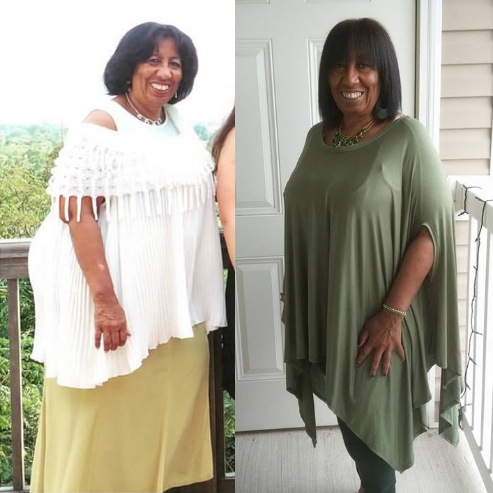"""""""I talked to Brenda about exercise and she was very encouraging and supportive, but I never talked to her about the food. I watched her posts on Facebook and tried some of the things she did, so when she announced the challenge, I signed up but then said,"""" what have I done?"""" Just another thing that will not work, but found myself doing it. I heard the Holy Spirit leading me and I had the support around me. My first few days I was at a retreat. I went prepared and I am glad I did because there was no healthy stuff served there. We all went out to eat and I chose vegetables. I did not know anyone was watching me but they were trying to do what I was doing. The woman across the table asked """"are you having dessert?"""" I said no I choose not to eat that right now because I want to be alert for the rest of the retreat and she decided not to either. lol     The 2nd week of the challenge, I became very tired and told Dr. Bradley. She wanted to see what I had been eating so I sent her a list of my meals. She said you have not been working the plan, it is 75% raw vegetables. Well to be honest I had not read the plan. I read the cookbook and dived in. After listening to Dr. Bradley, I began to eat the raw veggies and felt so much better I am now 223 lbs and lost so much in inches. I am not hurting like I was. I look younger. I have not done this perfectly but I tell you what I will not go back. I am working on getting rid of that rock back and forth when I walk and get my strut back. Lol, I love Brenda and so thankful that her heart was to do this for others. I have my life back. I can think better and my creativity astonishes me."""