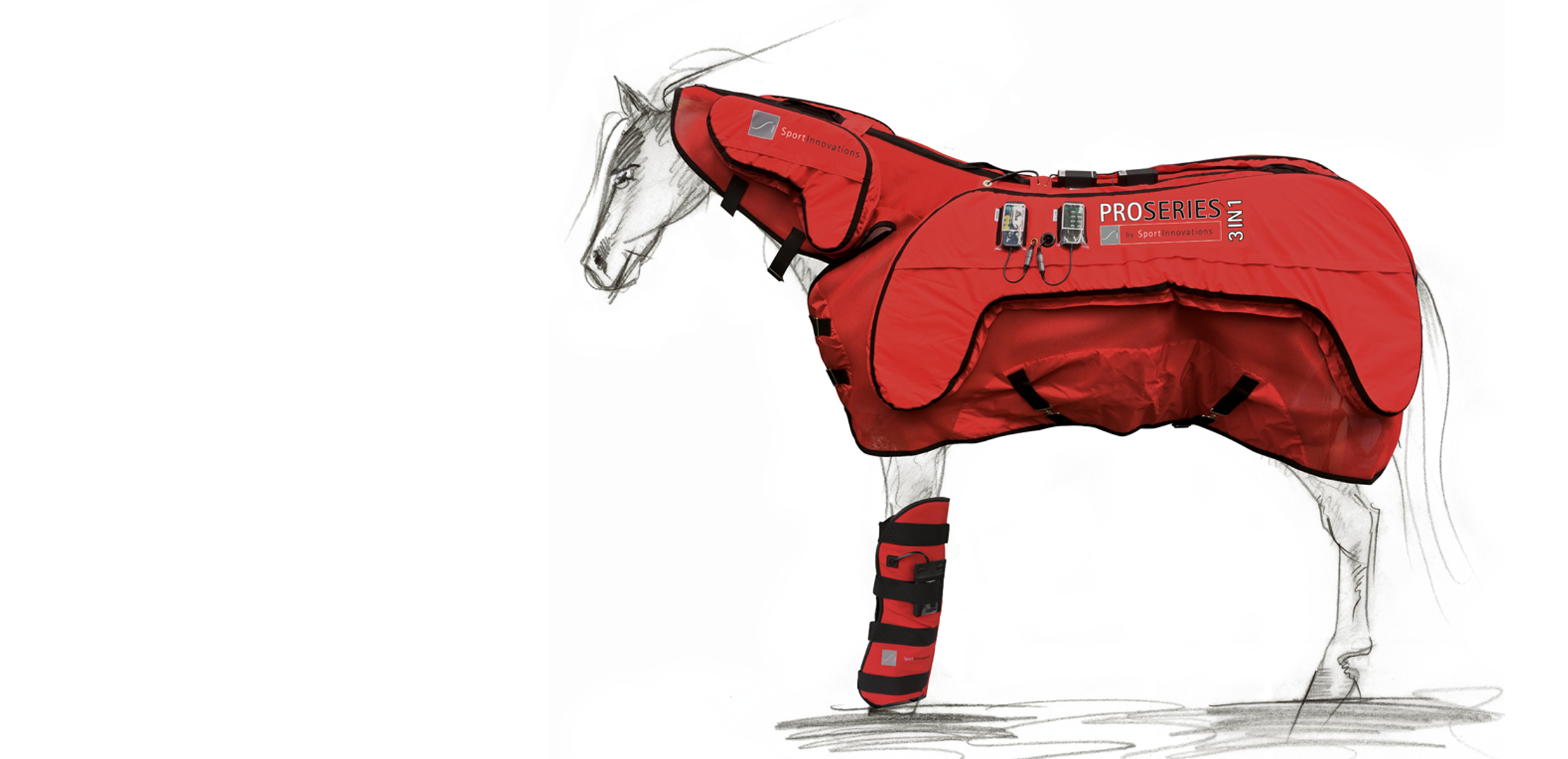 """Set of """"PROSERIES 3IN1"""" Equine Therapy BLANKET & Leg WRAPS"""
