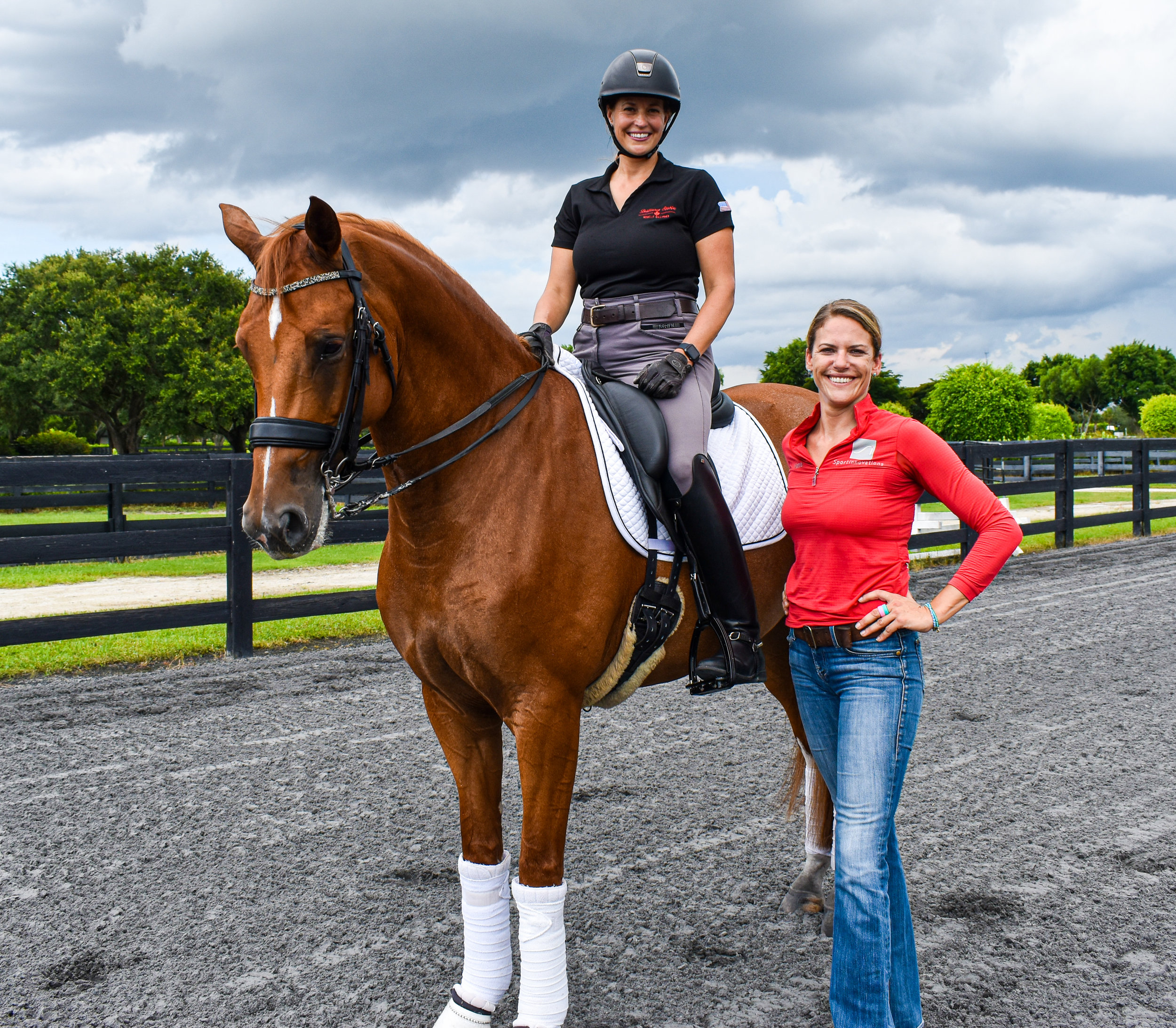 Denielle Gallagher-Legriffon and Hanna in Wellington, Florida.