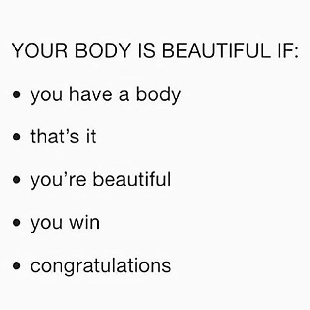 Always need the reminder....maybe you do too? (Regram @elephant.ed ) #bodypositive #selflove #everybodyisagoodbody #youwin #congratulations #domina_franco