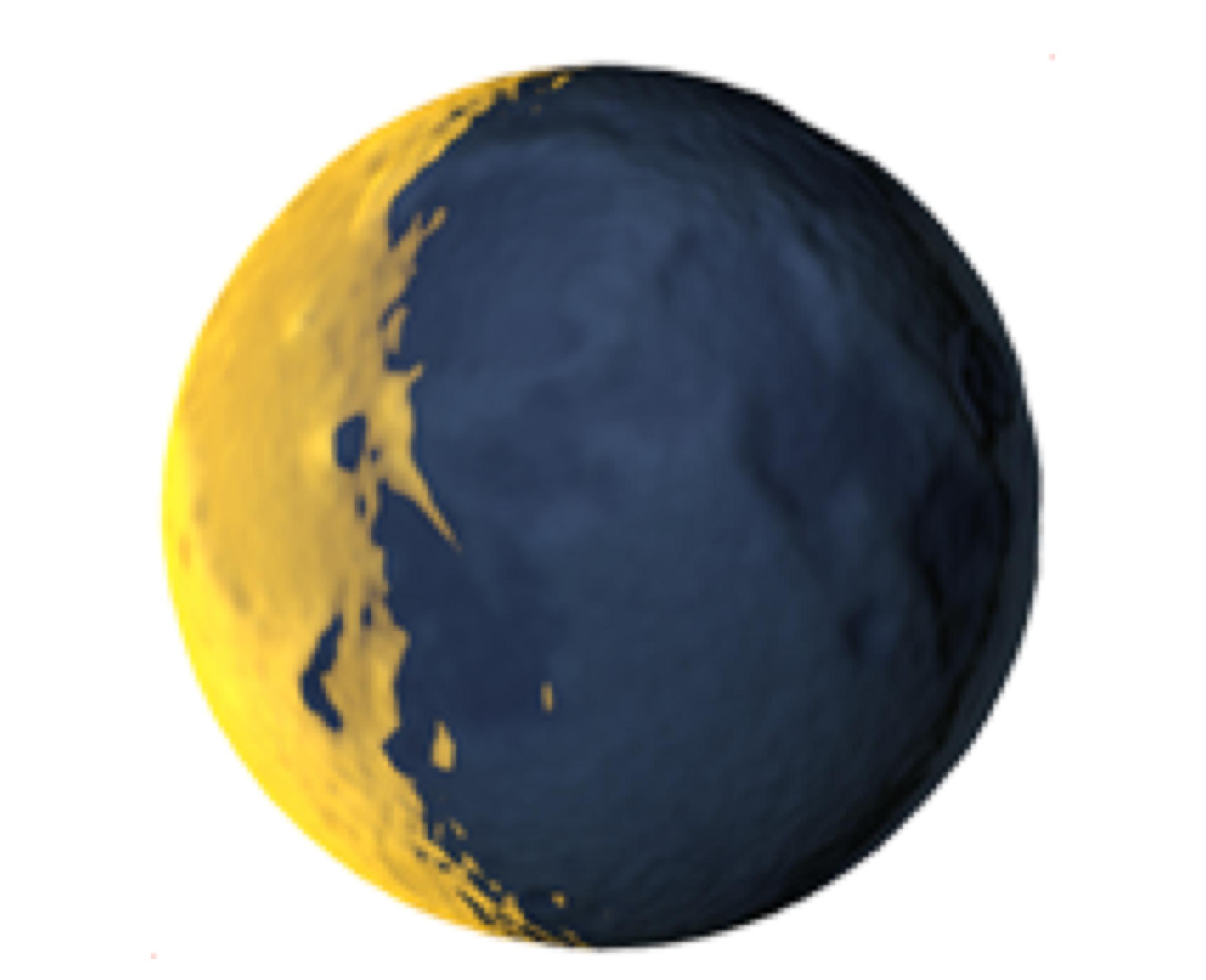 Waning crescent moon (🌘)