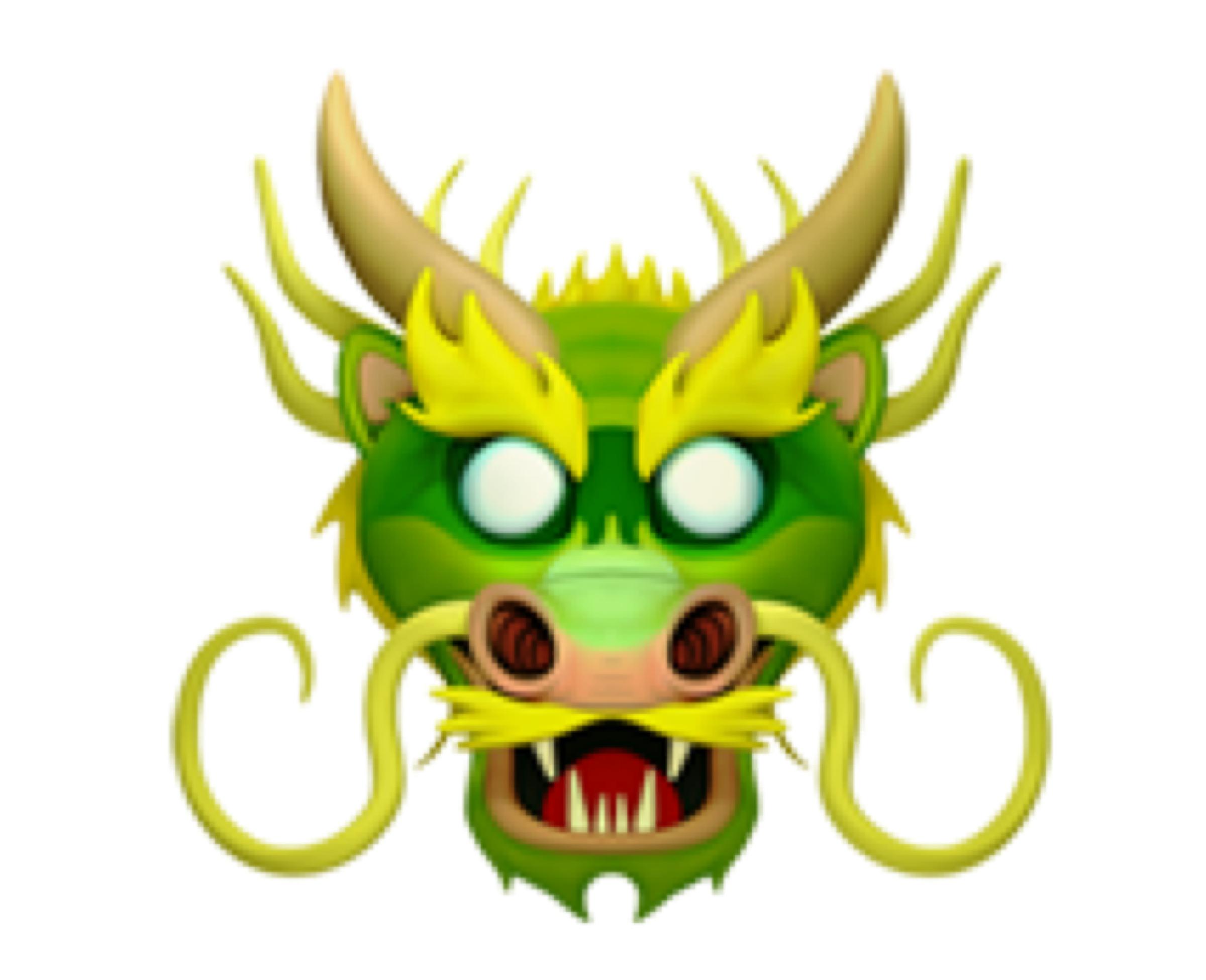 Dragon head (🐲)