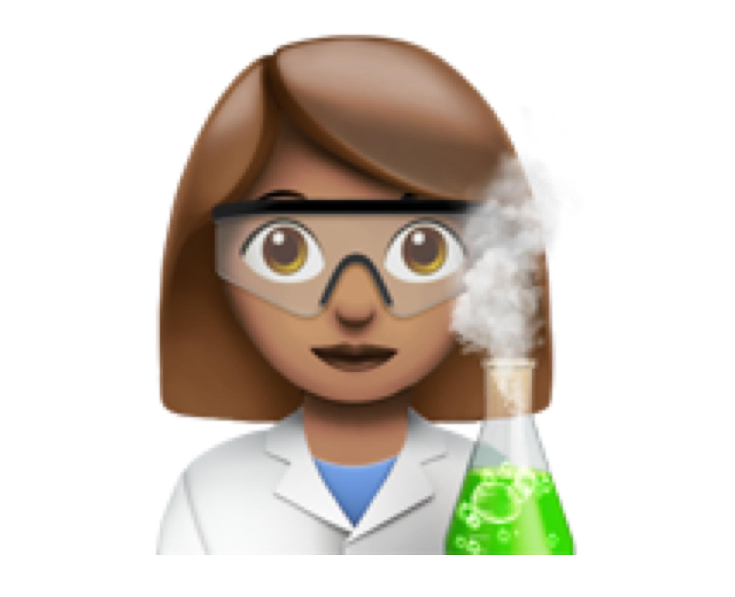 Woman scientist (👩🏽🔬)