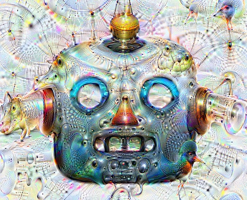 Deep dream of Robot face (🤖) (level 2)