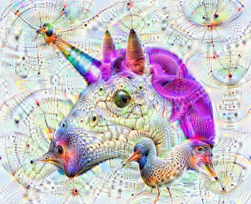 Deep dream of Unicorn (🦄) (level 1)