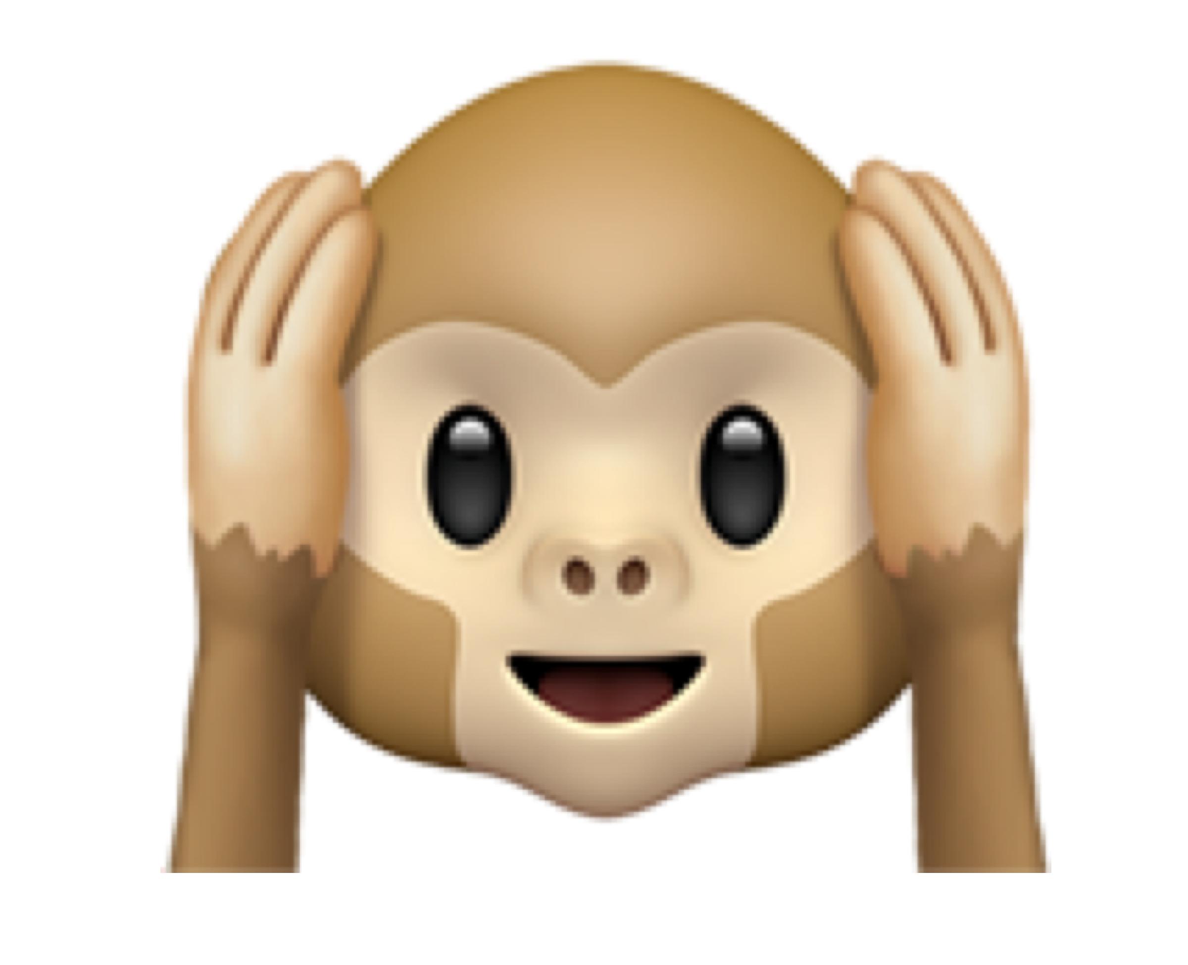 Hear-no-evil monkey (🙉)