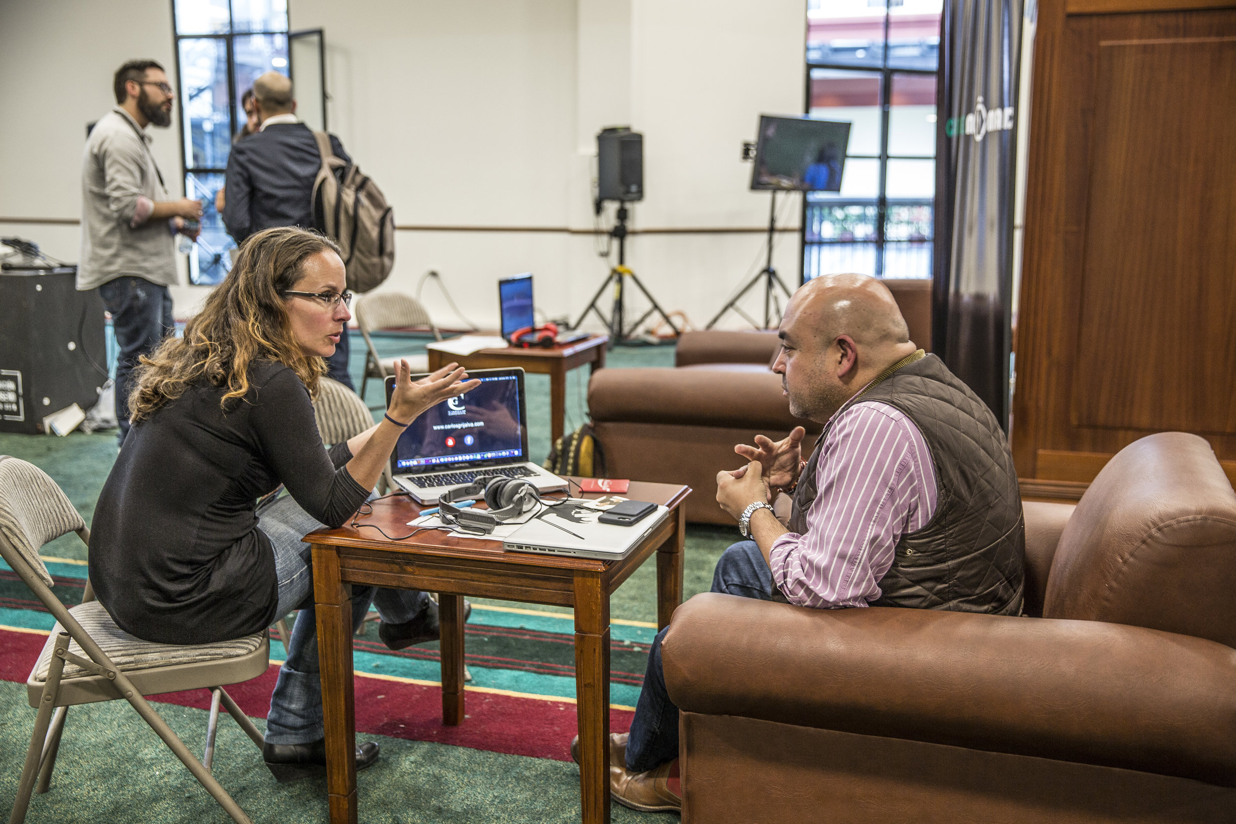 Participantes en la Feria de Contenidos Audiovisuales MOMAV 2016