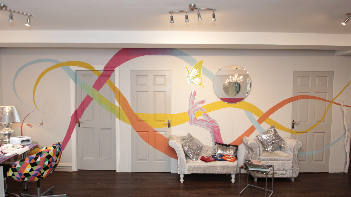 Glam Gals Interior Mural