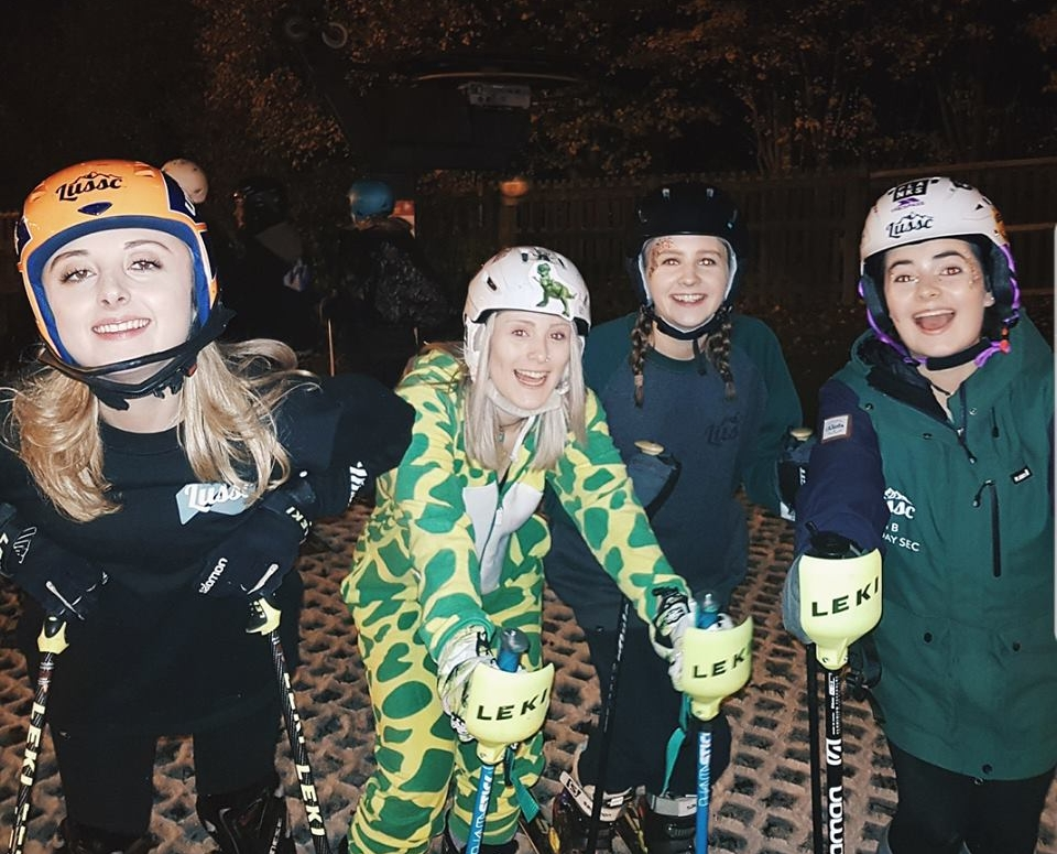 Leicester University skiers were out in force