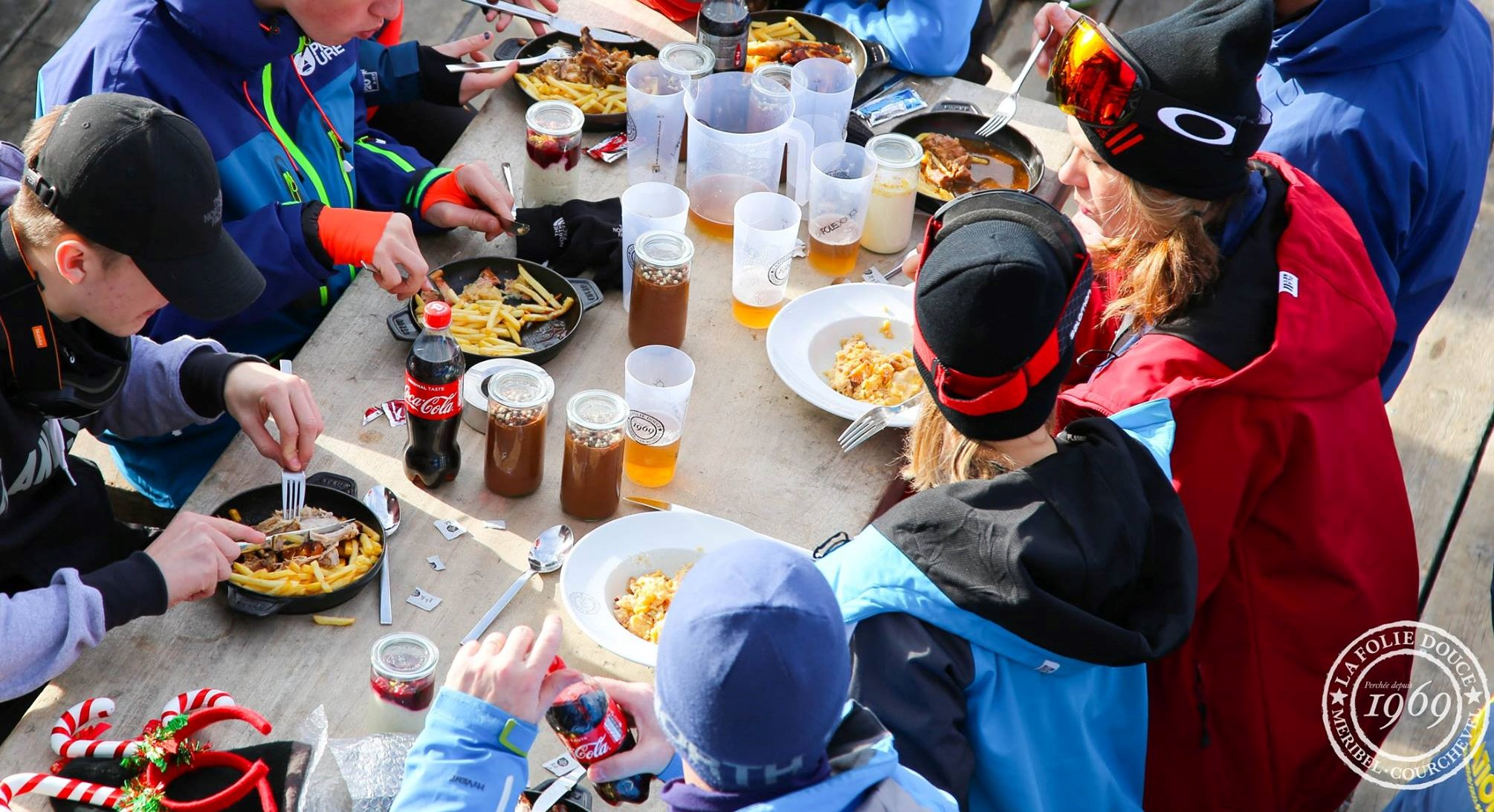 Eating on the mountain is sometimes necessary but be warned, it ain't cheap. Photo: La Folie Douce