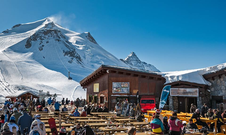 Earn your beer pêche.  Photo: Tignes Facebook page
