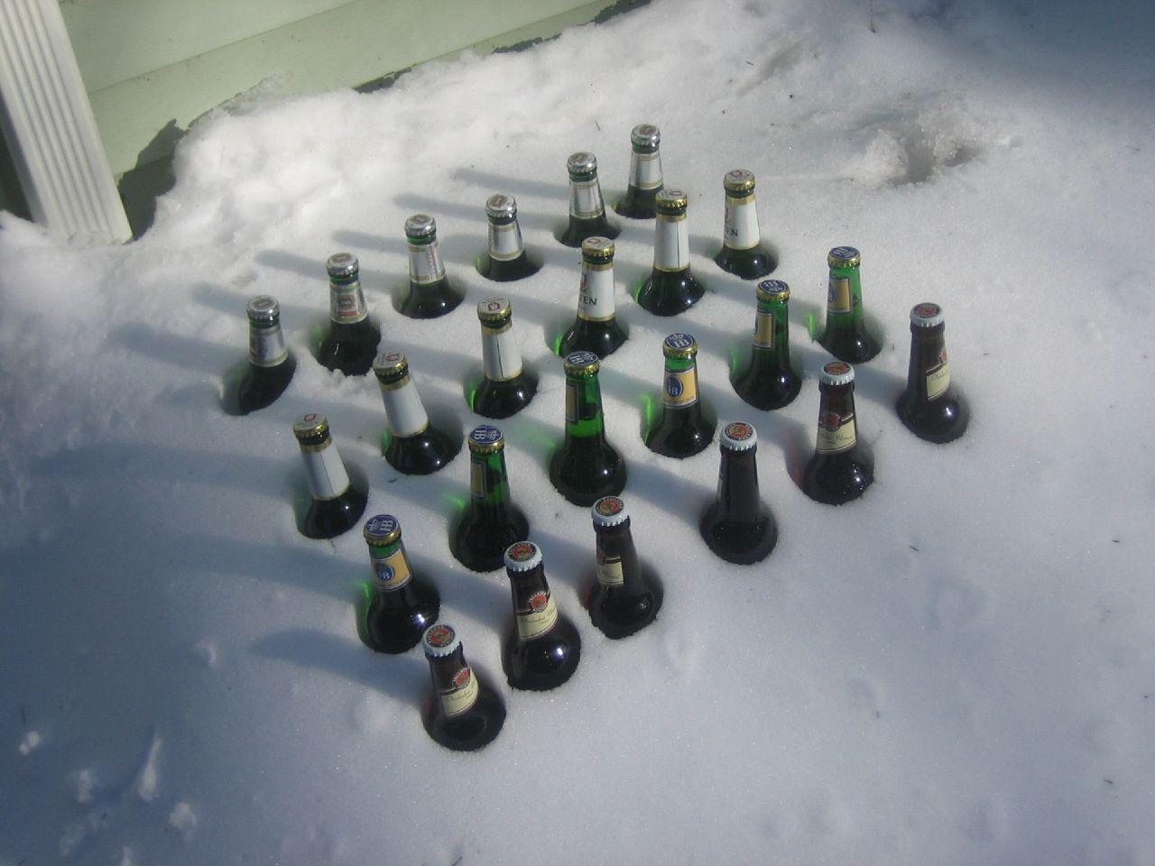 Balcony beer prep is essential