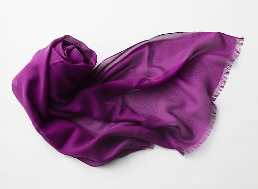 Fairy Feather silk scarf from Saiei silk company, Kawamata
