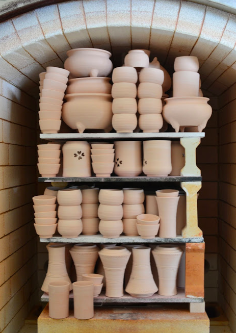 Works in progress at Matsunaga kiln
