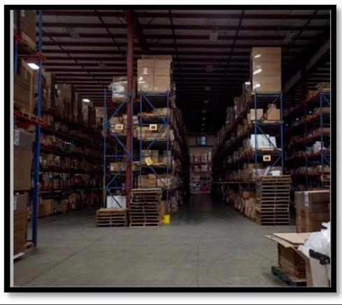 After photo: Warehouse Motion Sensors Saving Energy!