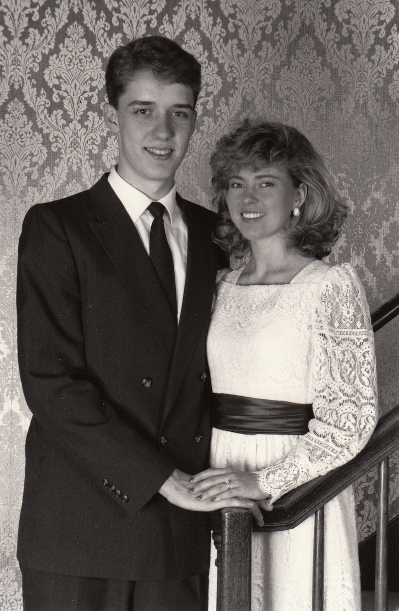 Ken and Tanja's engagement picture - 1989.