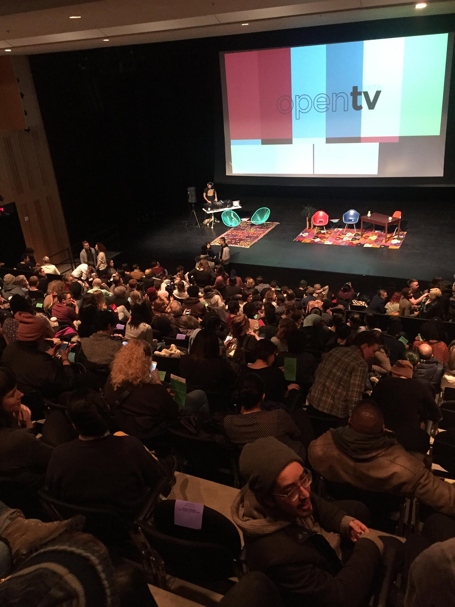 OpenTV Launch at Edlis Neeson Theater at the Museum of Contemporary Art