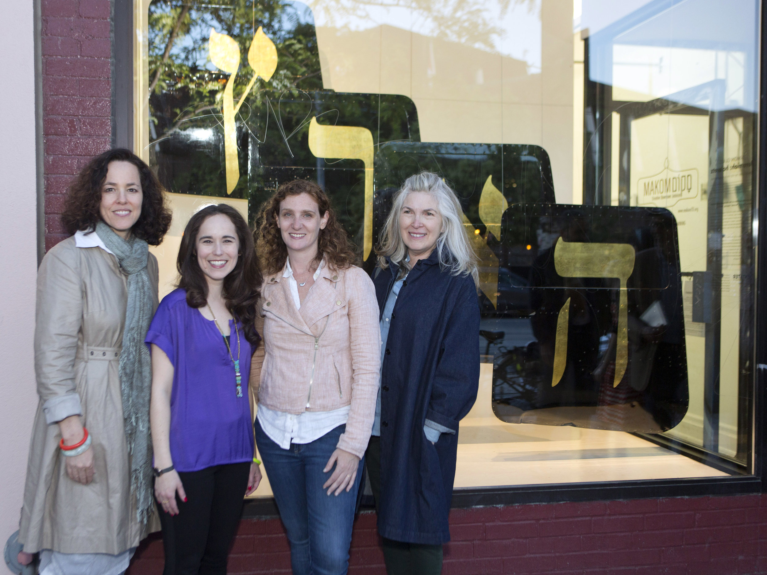 With FENTSTER collective members: Melissa Shiff, Mindy Stricke and Rochelle Rubinstein