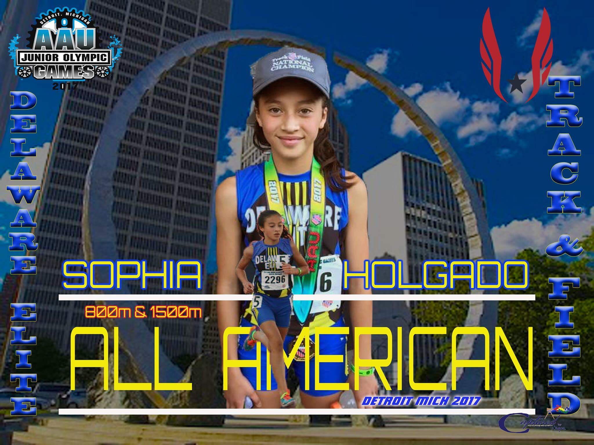 Sophia Holgado - #1 in the Nation in 3000m & 5000m - 11/12 age division